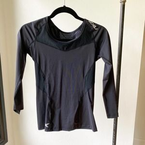 2XU Black Long Sleeve Compression Workout Top sz M